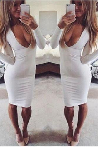 Sexy Bodycon Long Sleeve Dress